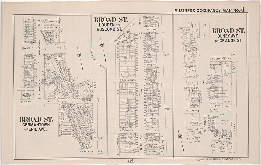Franklin's Street and Business Occupancy Atlas of philadelphia & Suburbs, 1946, Occupancy Map 4