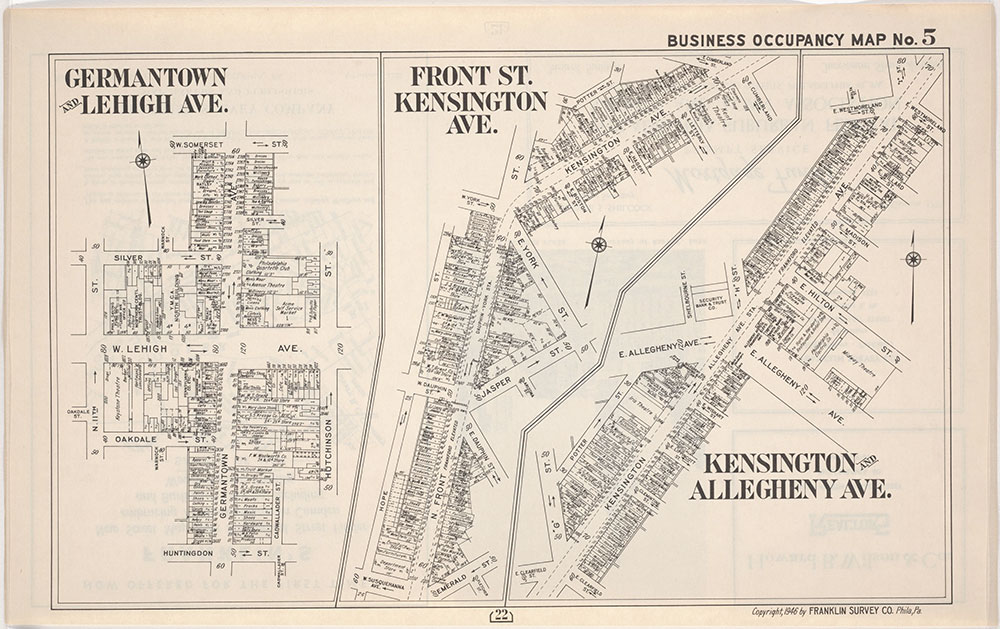 Franklin's Street and Business Occupancy Atlas of Philadelphia & Suburbs, 1946, Occupancy Map 5