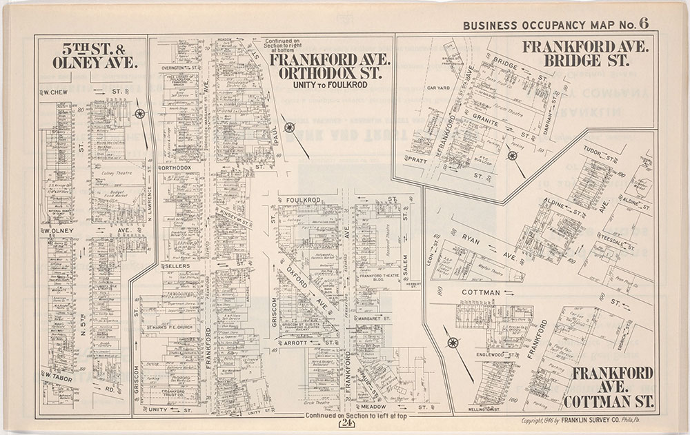 Franklin's Street and Business Occupancy Atlas of philadelphia & Suburbs, 1946, Occupancy Map 6
