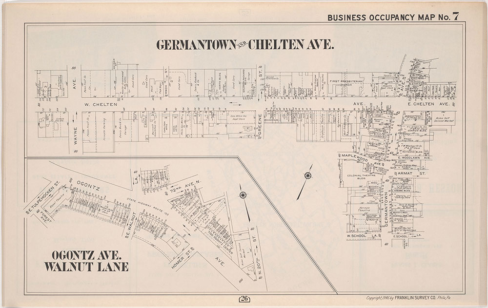 Franklin's Street and Business Occupancy Atlas of Philadelphia & Suburbs, 1946, Occupancy Map 7