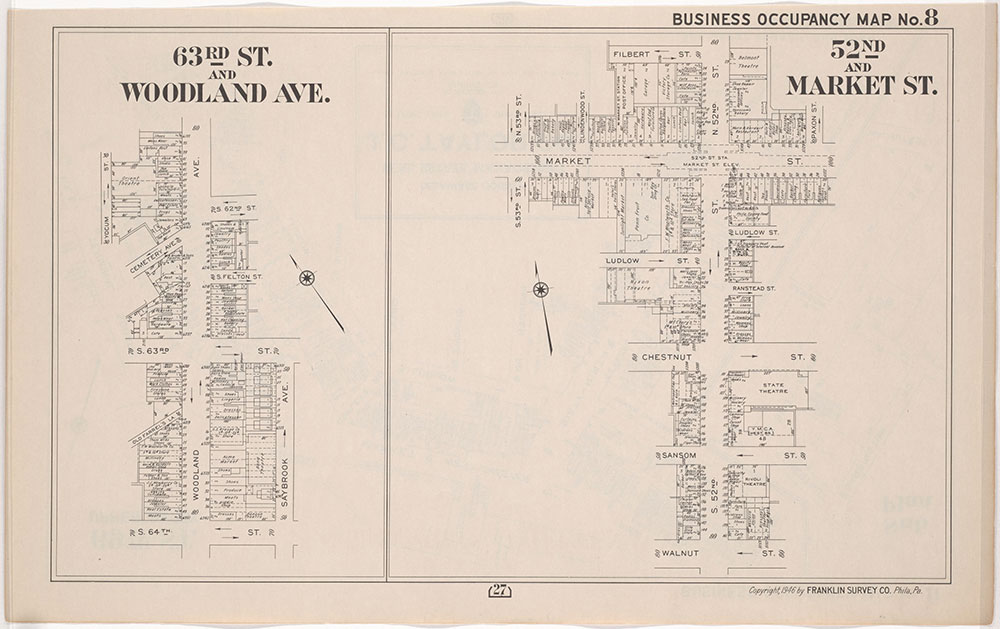 Franklin's Street and Business Occupancy Atlas of Philadelphia & Suburbs, 1946, Occupancy Map 8