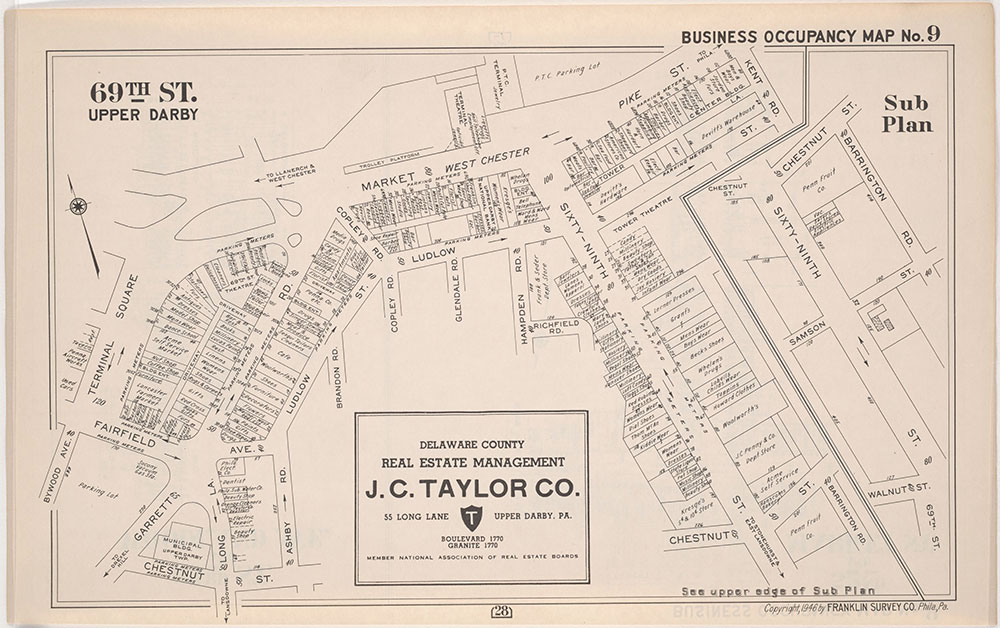 Franklin's Street and Business Occupancy Atlas of Philadelphia & Suburbs, 1946, Occupancy Map 9