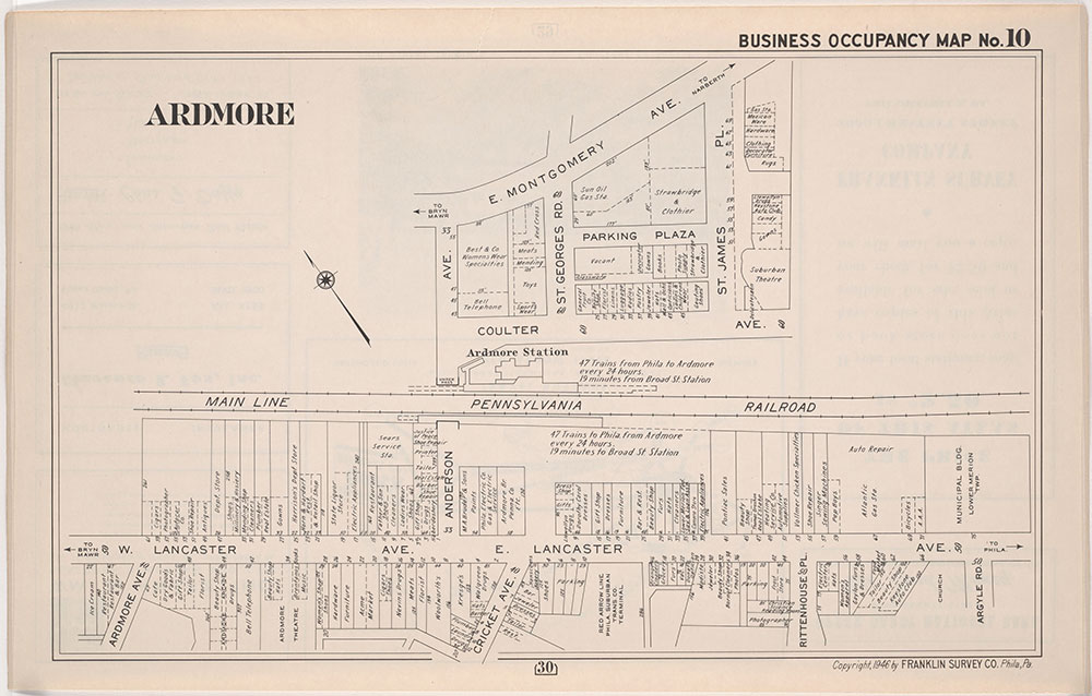 Franklin's Street and Business Occupancy Map of Philadelphia & Suburbs, 1946, Occupancy Map 10