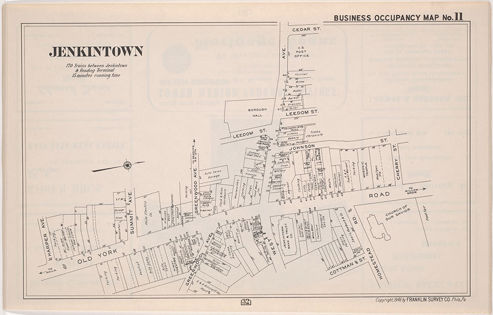 Franklin's Street and Business Occupancy Atlas of Philadelphia & Suburbs, 1946, Occupancy Map 11
