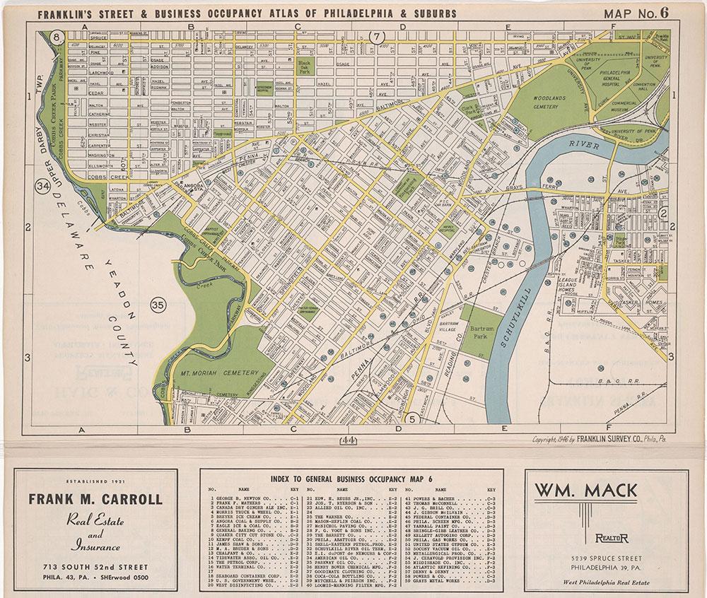 map of philadelphia suburbs Franklin S Street And Business Occupancy Atlas For Philadelphia map of philadelphia suburbs