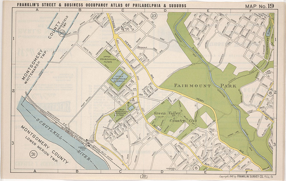 Franklin's Street and Business Occupancy Atlas of Philadelphia & Suburbs, 1946, Location Map 19