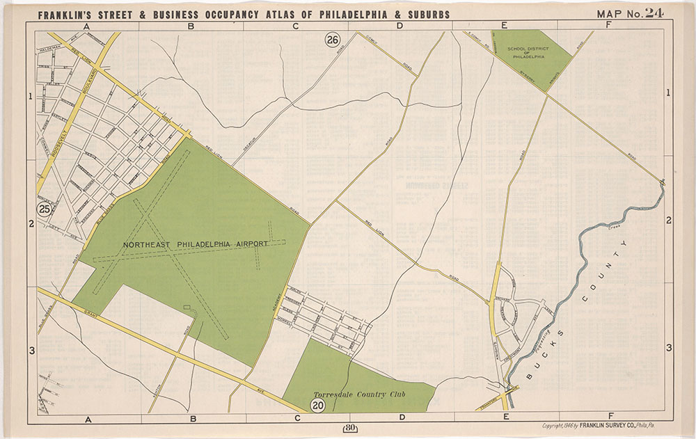 FRanklin's Street and Business Occupancy Atlas of Philadelphia & Suburbs, 1946, Location Map 24