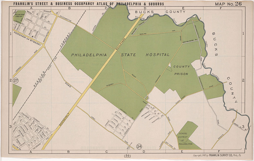 Franklin's Street and Business occupanct Atlas of Philadelphia & Suburbs, 1946, Location Map 26