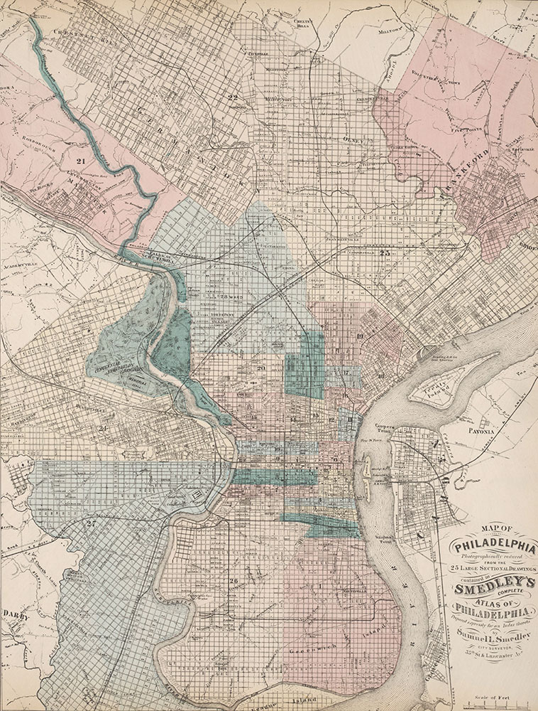 Atlas of Philadelphia, 5th, 7th & 8th Wards, 1874, City Map