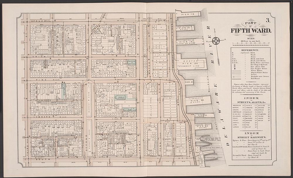 Atlas of Philadelphia, 5th, 7th & 8th Wards, 1874, Plate 3