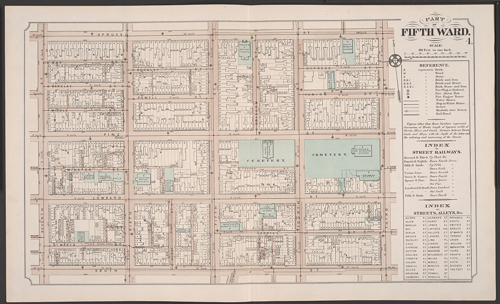 Atlas of Philadelphia, 5th, 7th & 8th Wards, 1874, Plate 4
