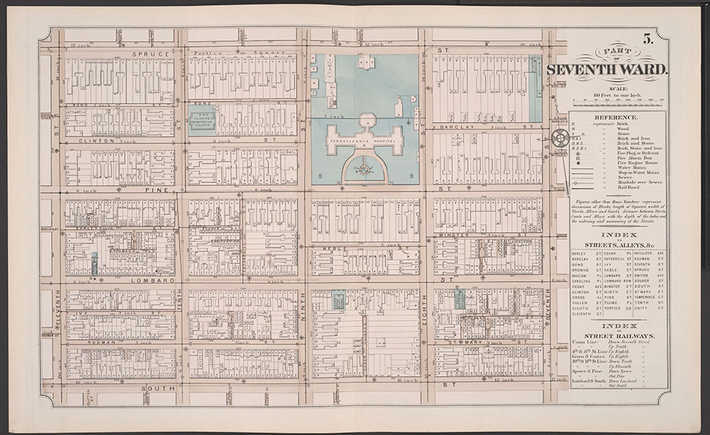Atlas of Philadelphia, 5th, 7th & 8th Wards, 1874, Plate 5