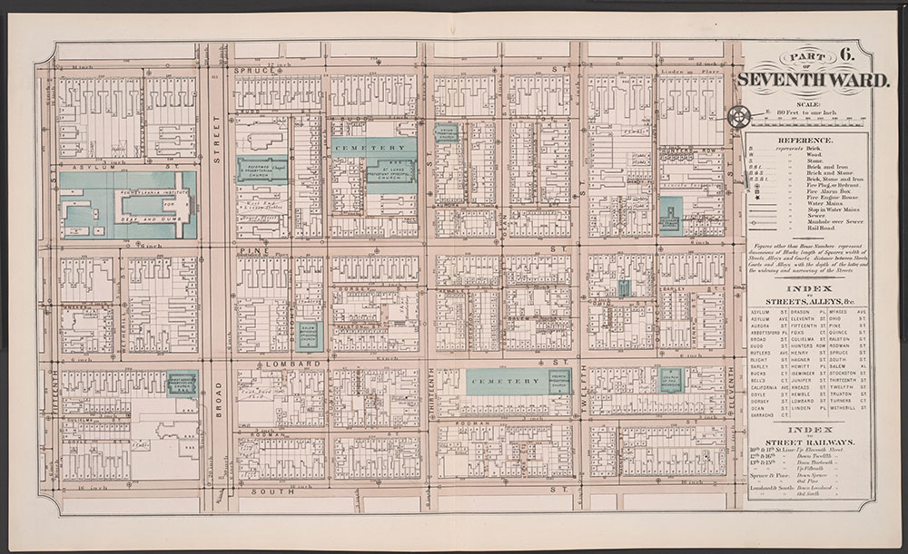 Atlas of Philadelphia, 5th, 7th & 8th Wards, 1874, Plate 6