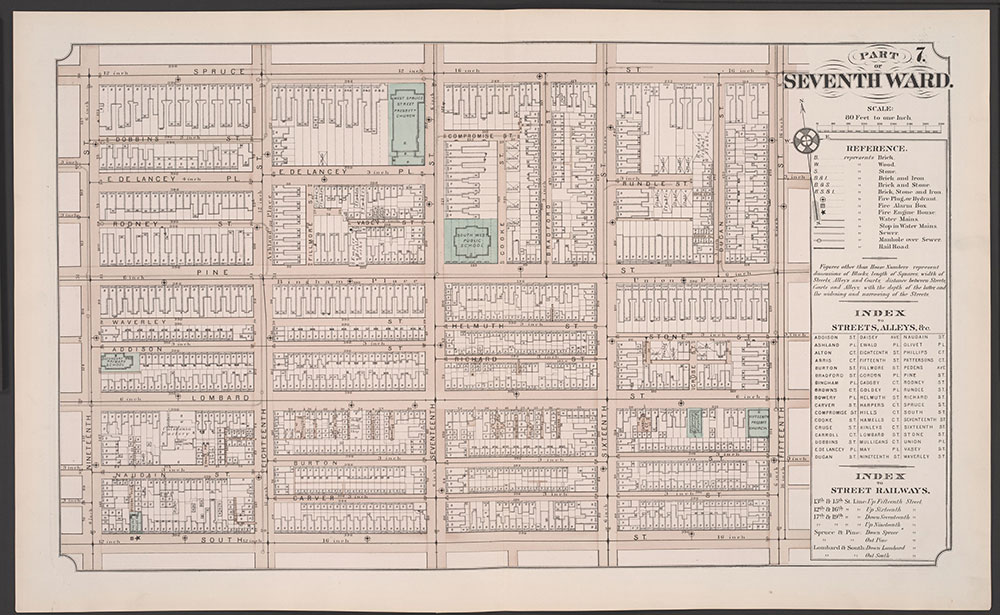 Atlas of Philadelphia, 5th, 7th & 8th Wards, 1874, Plate 7