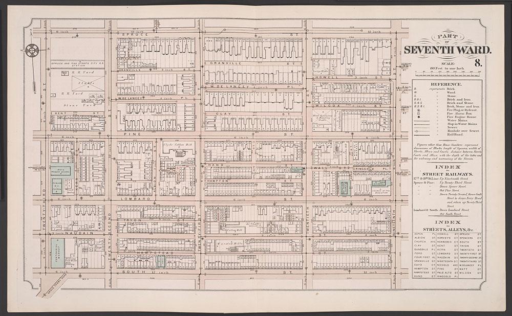 Atlas of Philadelphia, 5th, 7th & 8th Wards, 1874, Plate 8