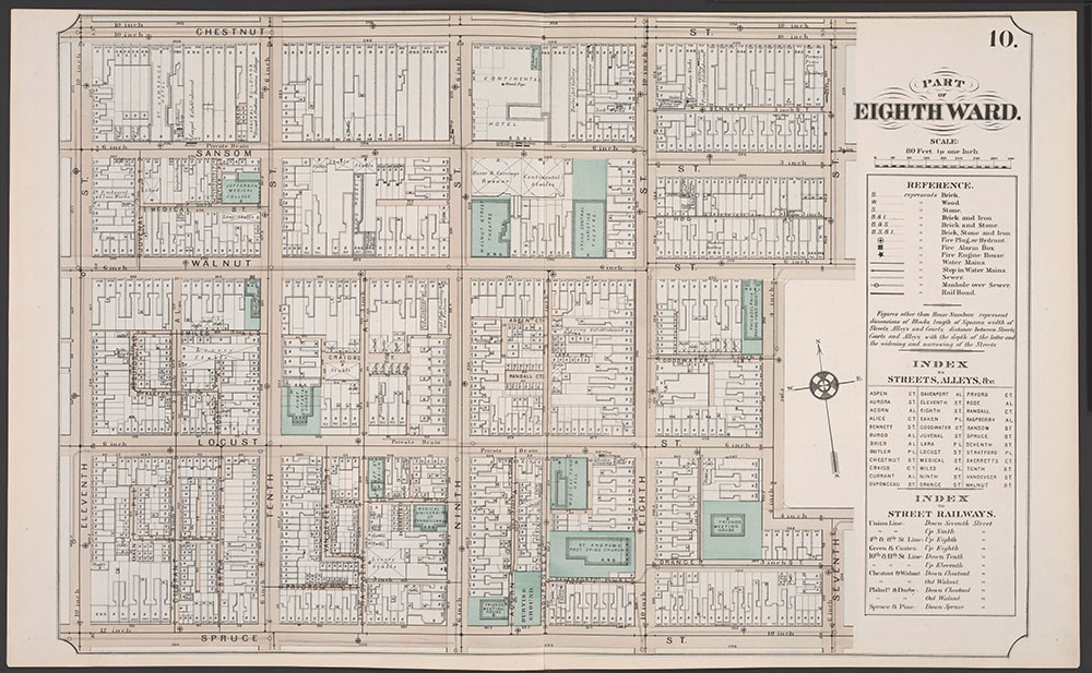 Atlas of Philadelphia, 5th, 7th & 8th Wards, 1874, Plate 10