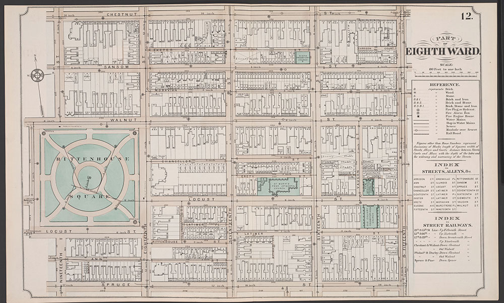 Atlas of Philadelphia, 5th, 7th & 8th Wards, 1874, Plate 12