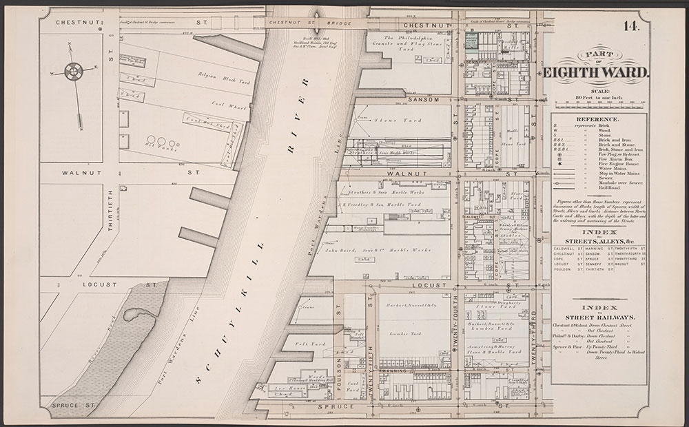 Atlas of Philadelphia, 5th, 7th & 8th Wards, 1874, Plate 14