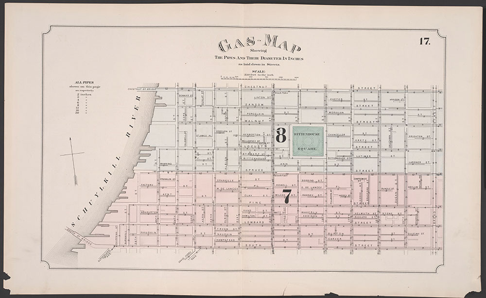 Atlas of Philadelphia, 5th, 7th & 8th Wards, 1874, Plate 17