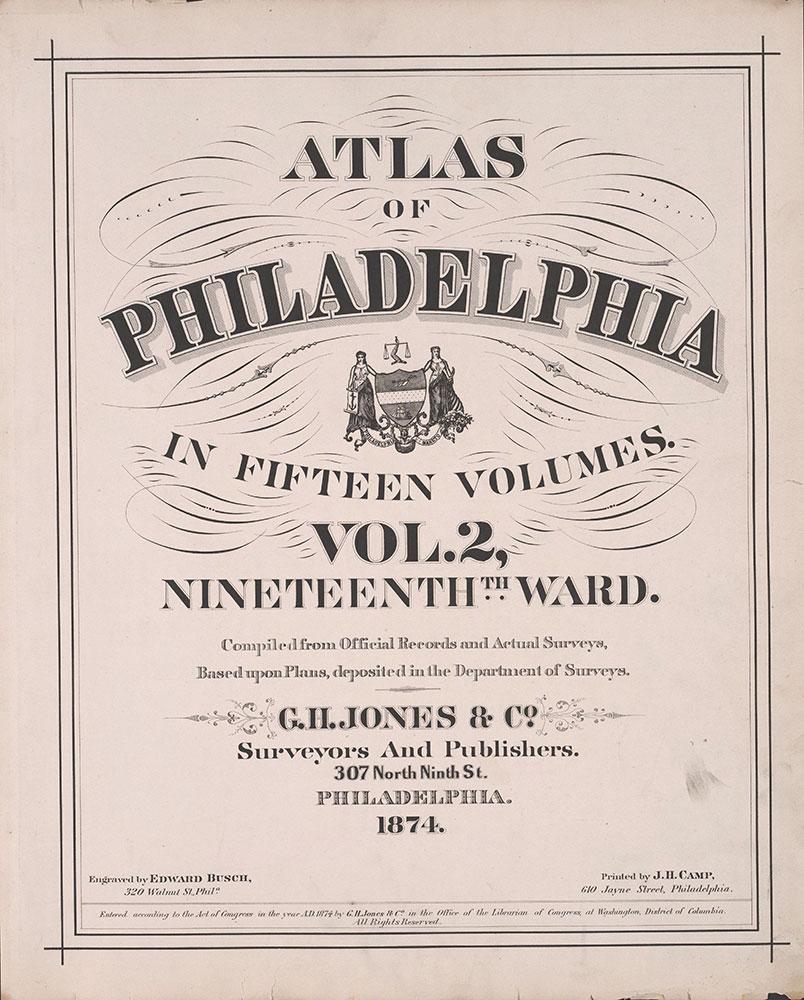 Atlas of Philadelphia, 19th Ward, 1874, Title Page