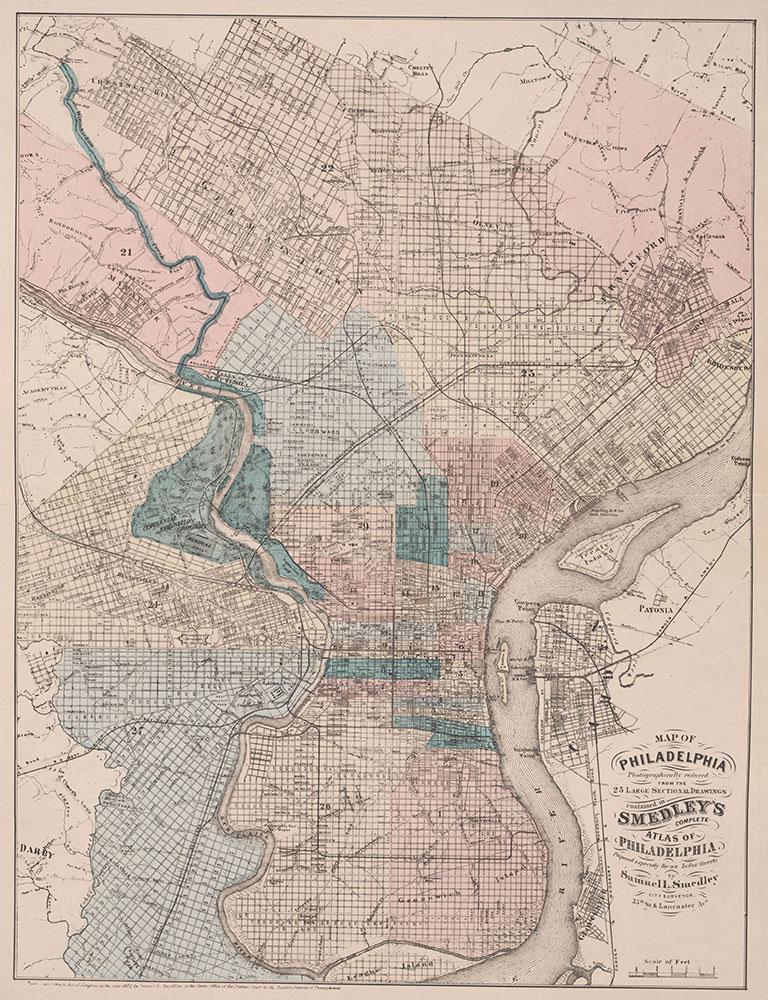 Atlas of Philadelphia, 19th Ward, 1874, City Map