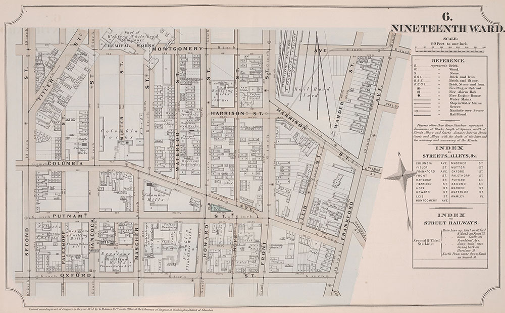 Atlas of Philadelphia, 19th Ward, 1874, Plate 6