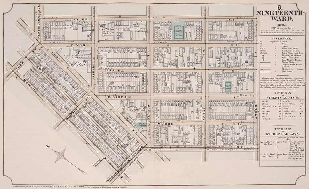Atlas of Philadelphia, 19th Ward, 1874, Plate 9