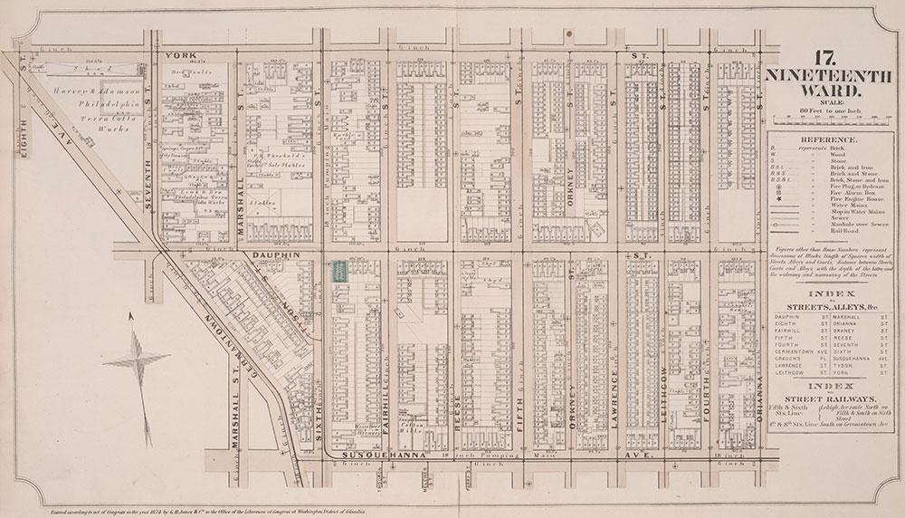 Atlas of Philadelphia, 19th Ward, 1874, Plate 17