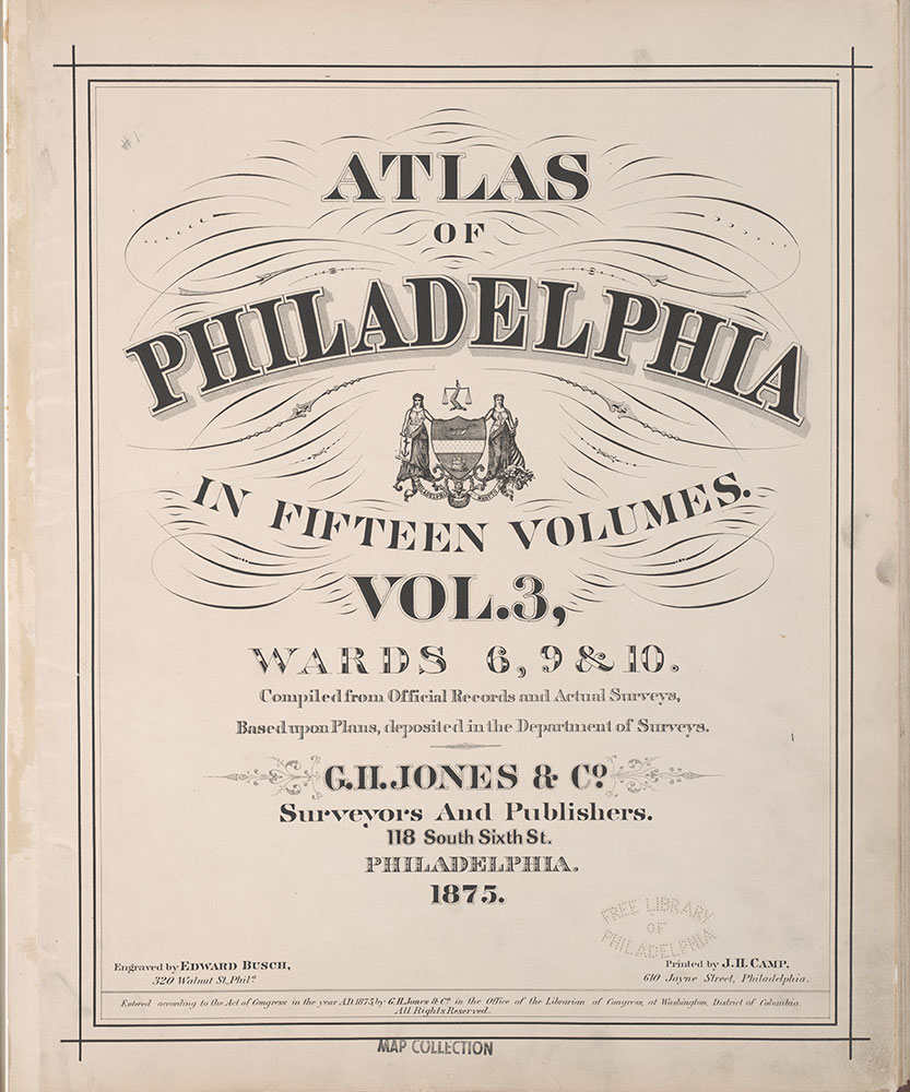 Atlas of Philadelphia, 6th, 9th and 10th Wards, 1875, Title Page