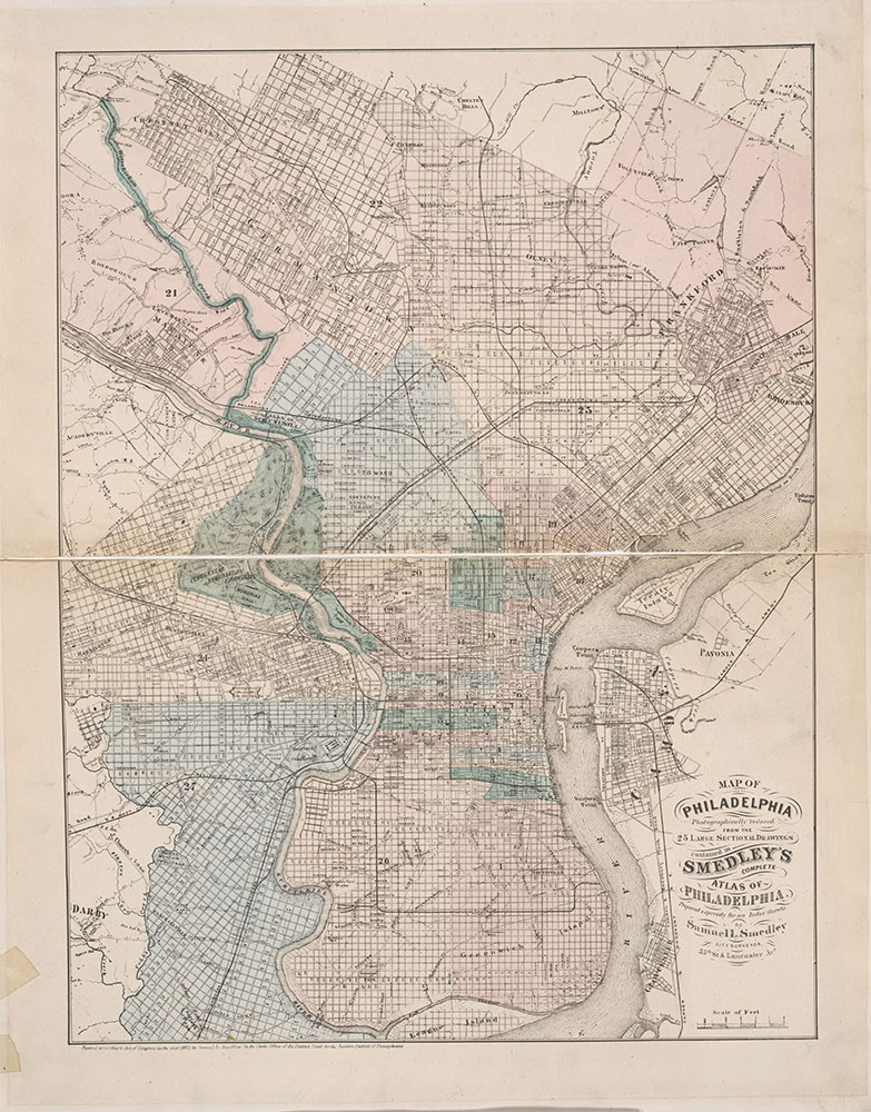 Atlas of Philadelphia, 6th, 9th and 10th Wards, 1875, City Map
