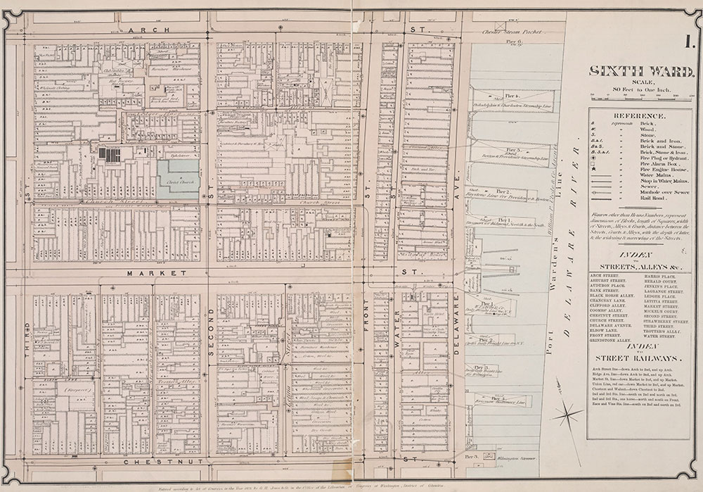 Atlas of Philadelphia, 6th, 9th and 10th Wards, 1875, Plate 1