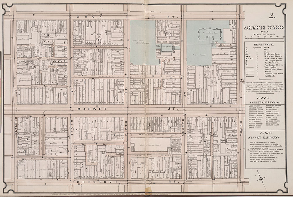 Atlas of Philadelphia, 6th, 9th and 10th Wards, 1875, Plate 2