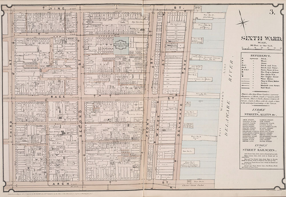 Atlas of Philadelphia, 6th, 9th and 10th Wards, 1875, PLate 3
