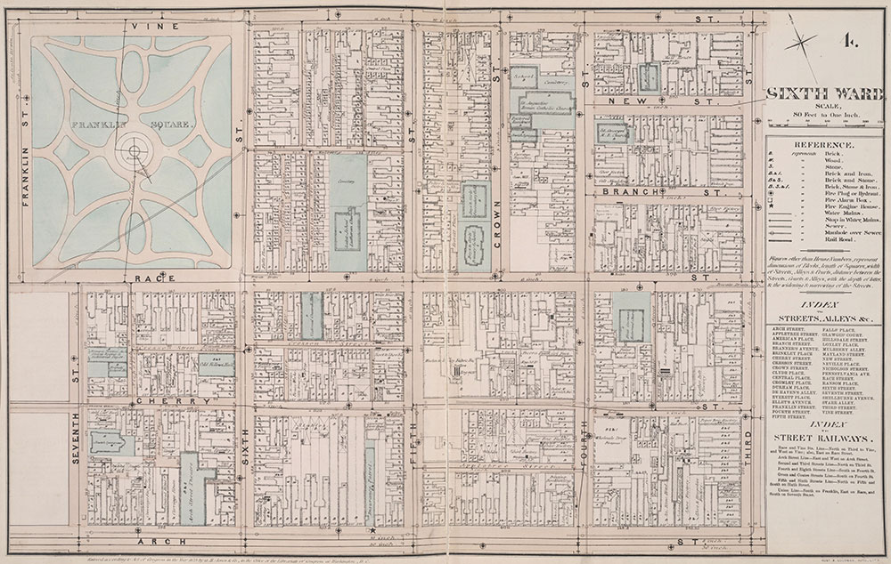 Atlas of Philadelphia, 6th, 9th and 10th Wards, 1875,, Plate 4