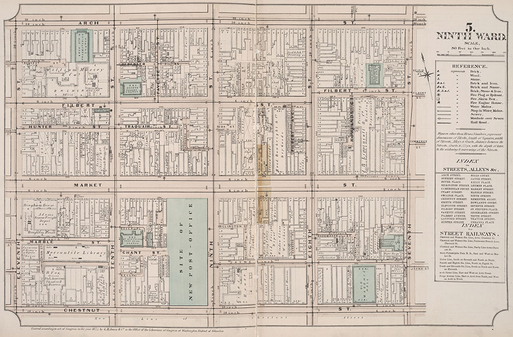 Atlas of Philadelphia, 6th, 9th and 10th Wards, 1875, Plate 5