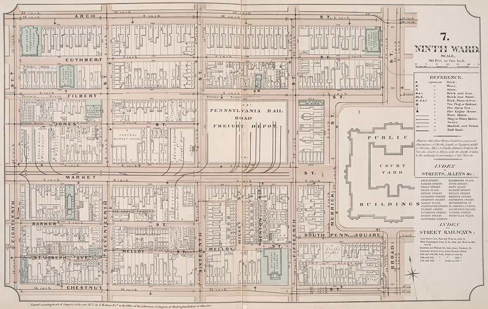 Atlas of Philadelphia, 6th, 9th and 10th Wards, 1875, Plate 7