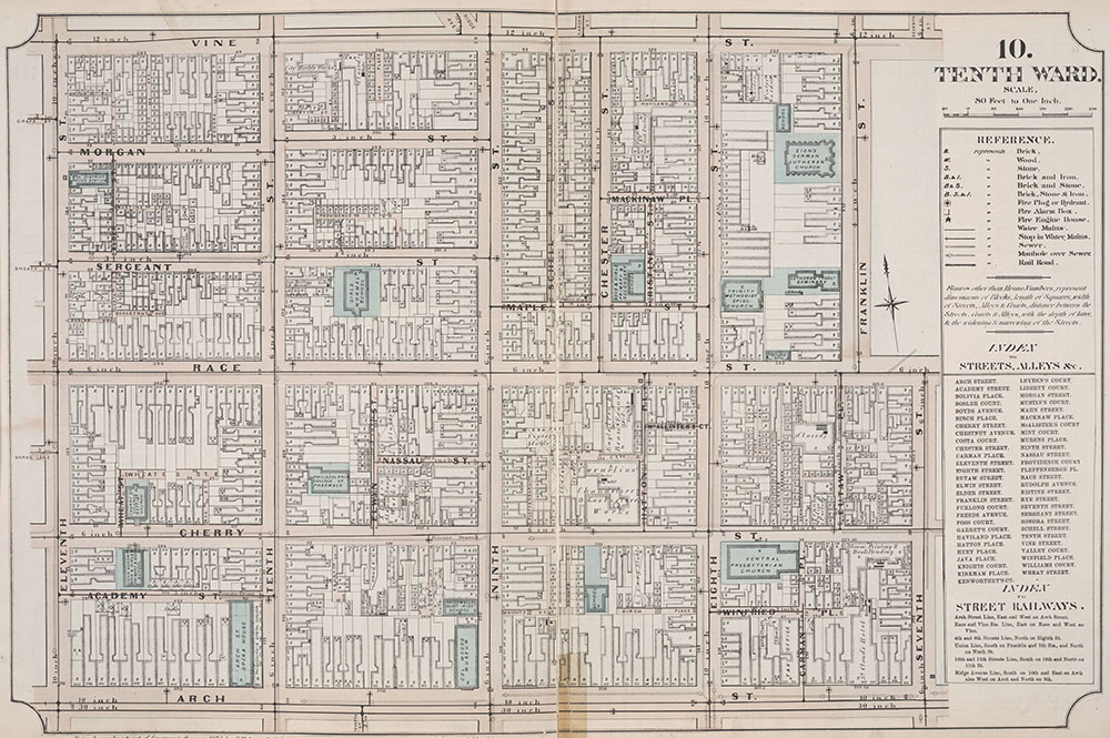 Atlas of Philadelphia, 6th, 9th and 10th Wards, 1875, Plate 10