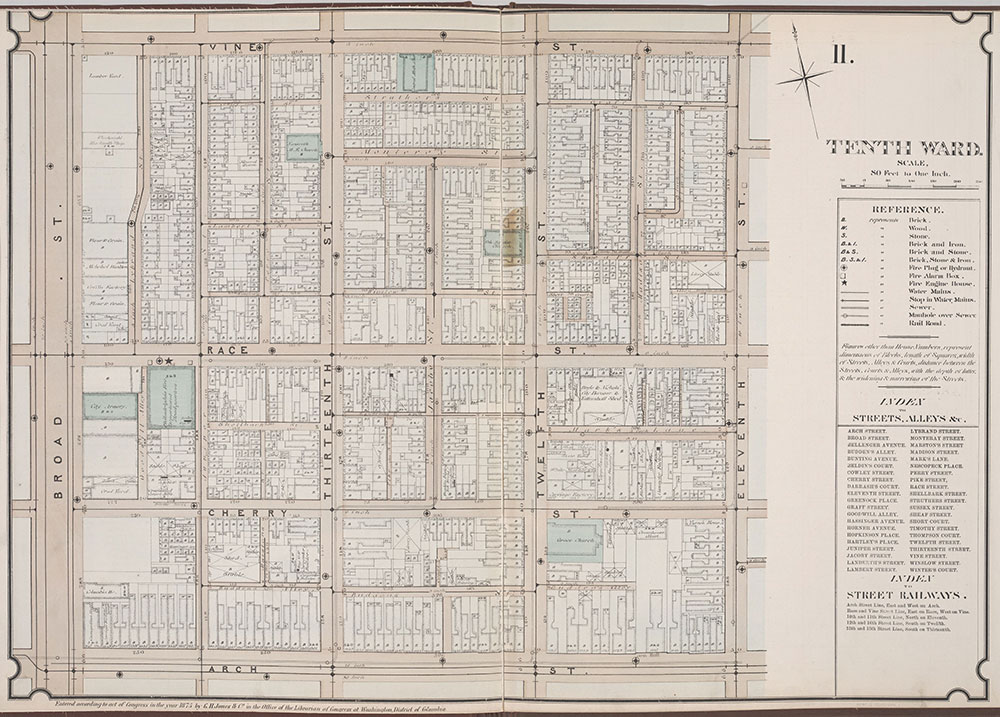 Atlas of Philadelphia, 6th, 9th and 10th Wards, 1875, Plate 11