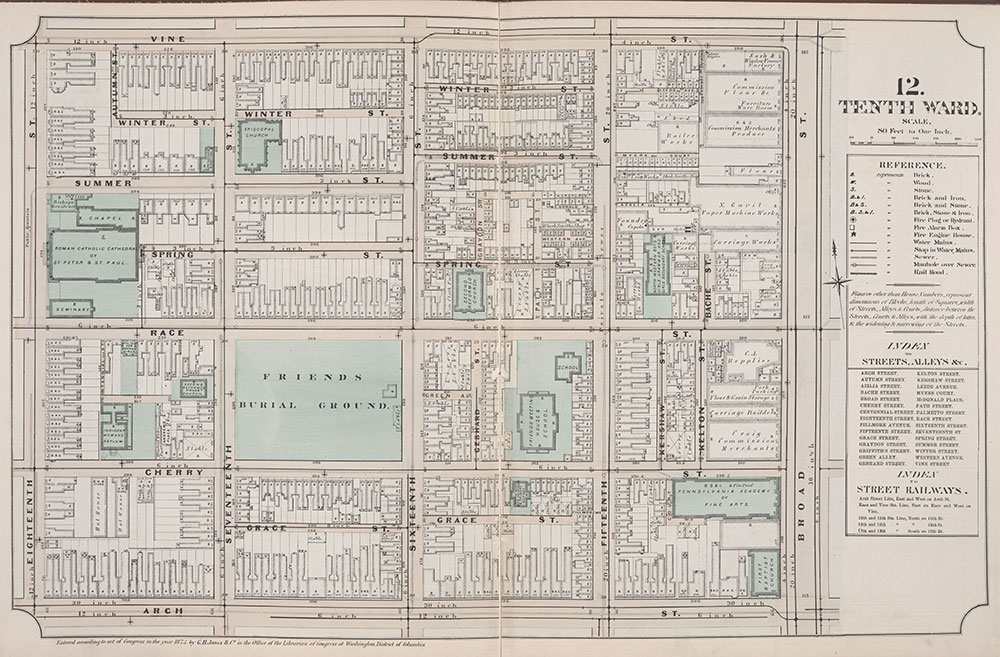 Atlas of Philadelphia, 6th, 9th and 10th Wards, 1875, Plate 12