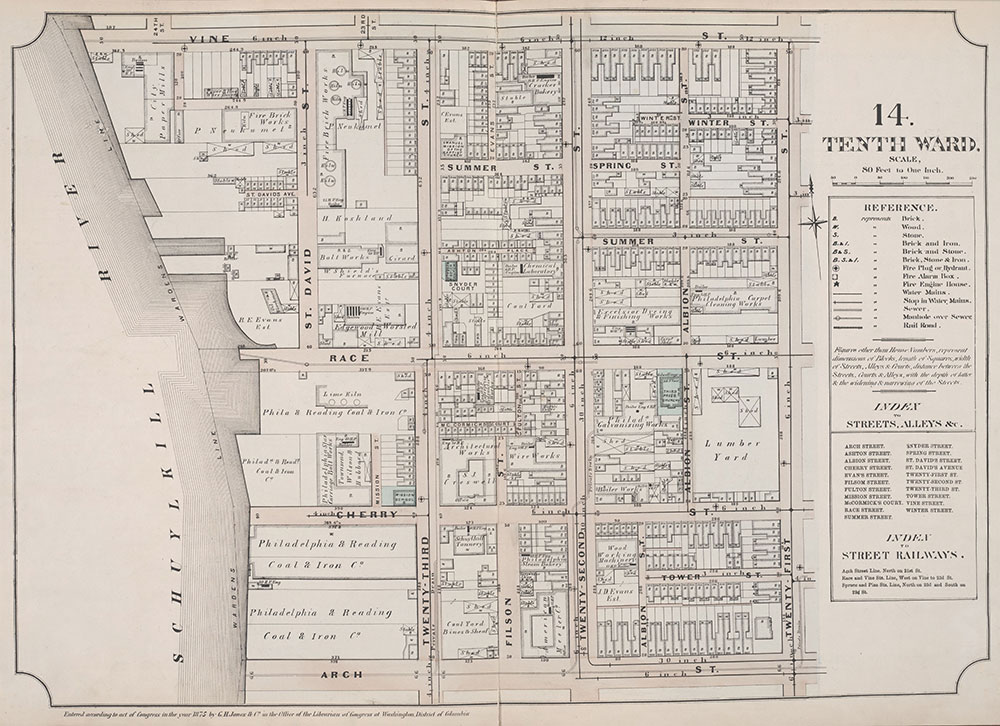 Atlas of Philadelphia, 6th, 9th and 10th Wards, 1875, Plate 14
