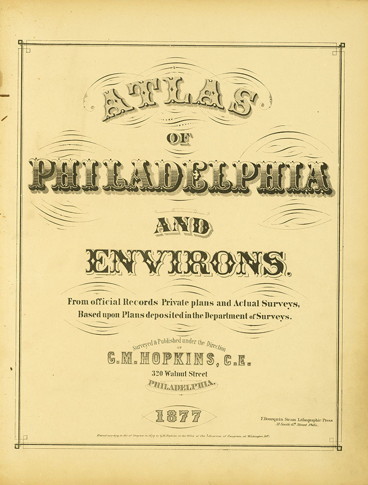 Atlas of Philadelphia and Environs, Title Page