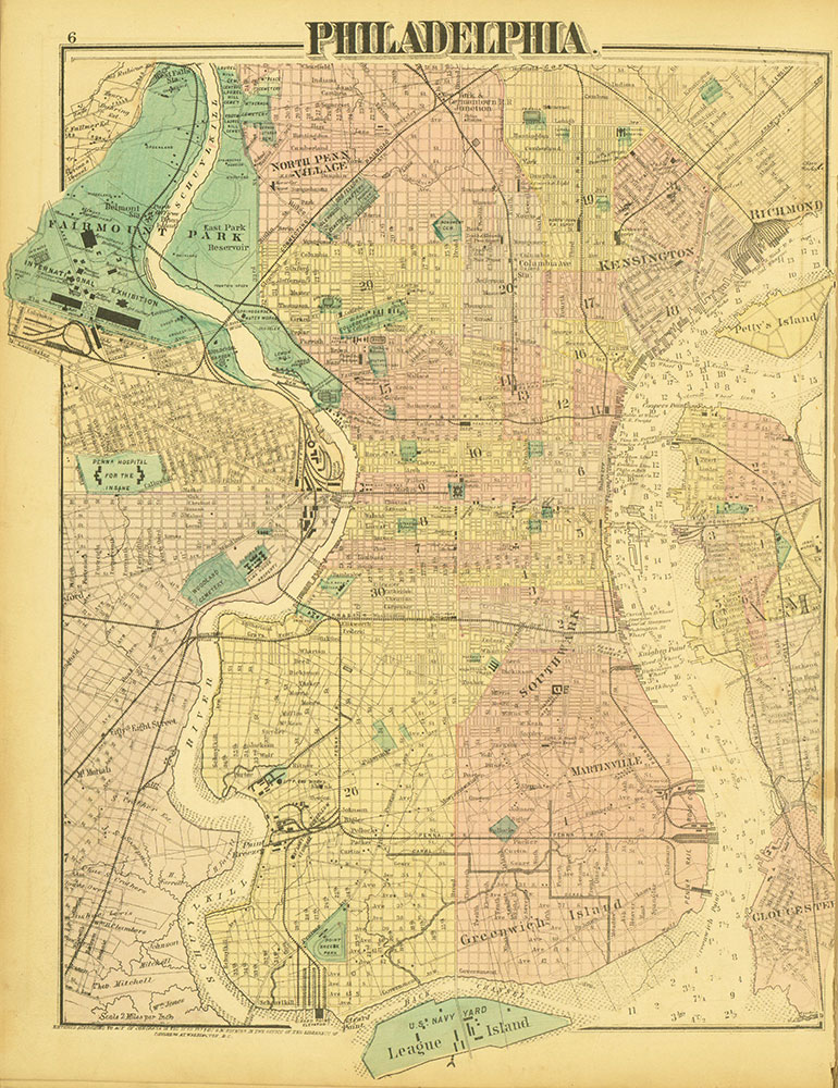 Atlas of Philadelphia and Environs, Page 6