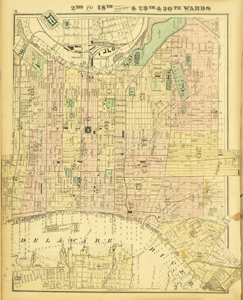 Atlas of Philadelphia and Environs, Page 8