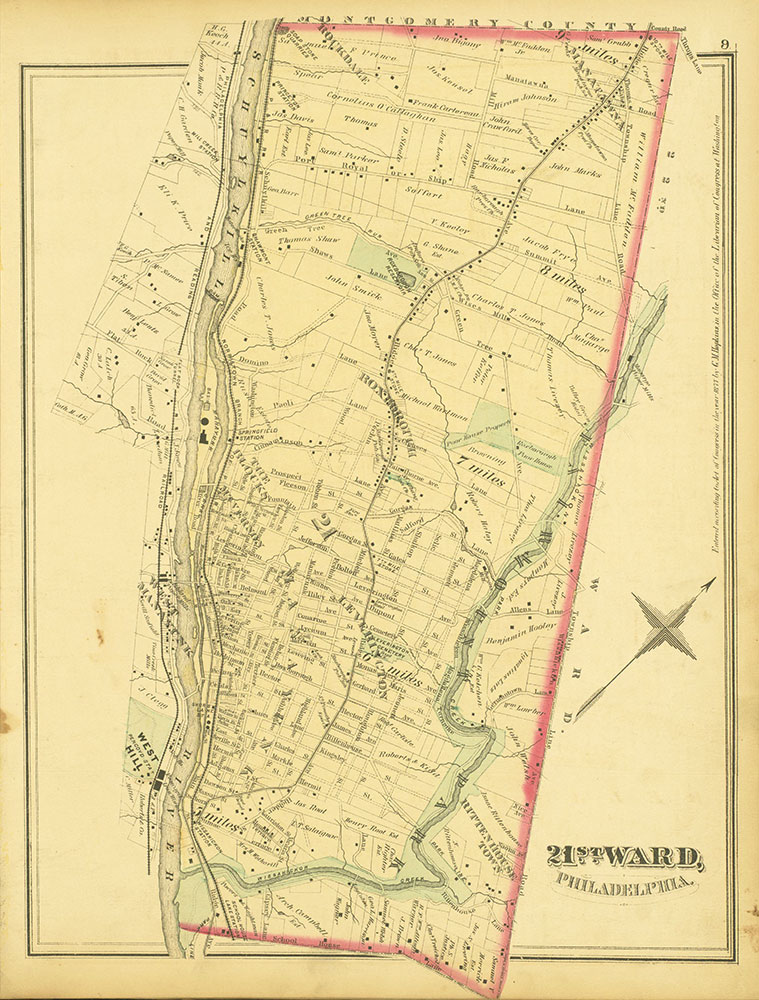 Atlas of Philadelphia and Environs, Page 9