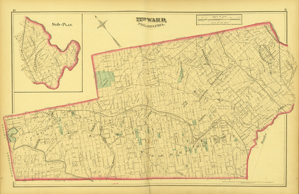 Atlas of Philadelphia and Environs, Pages 10-11