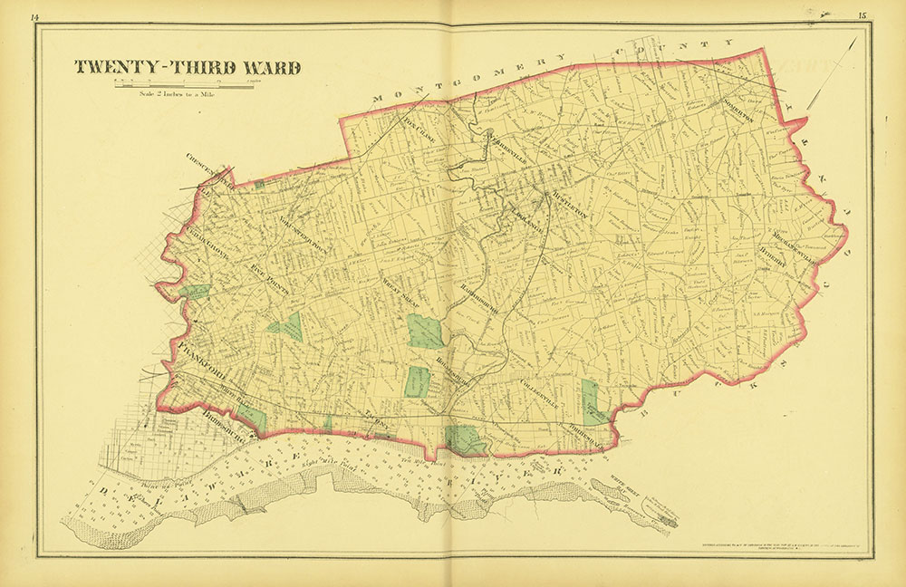 Atlas of Philadelphia and Environs, Pages 14-15