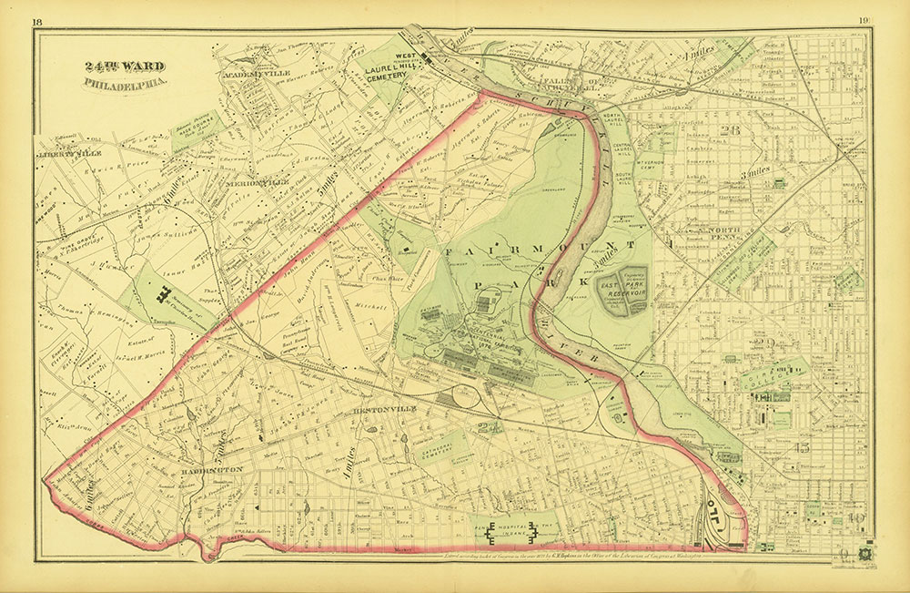 Atlas of Philadelphia and Environs, Pages 18-19