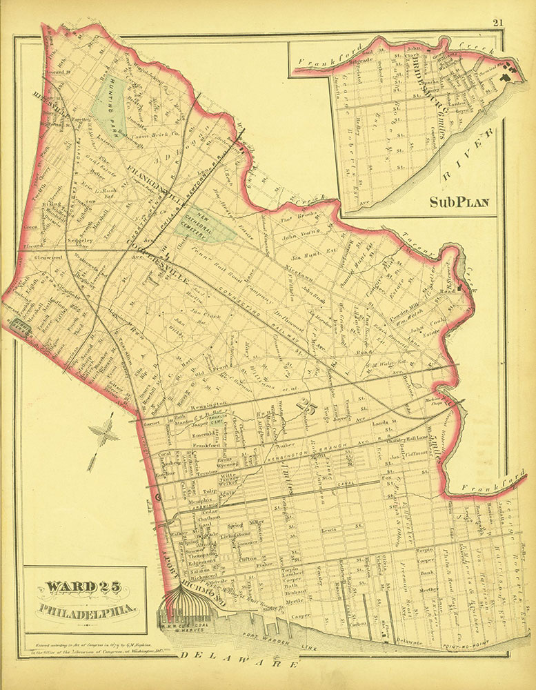 Atlas of Philadelphia and Environs, Page 21