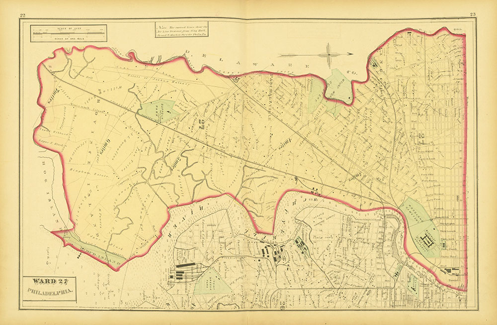 Atlas of Philadelphia and Environs, Pages 22-23