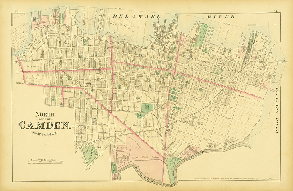 Atlas of Philadelphia and Environs, Pages 26-27